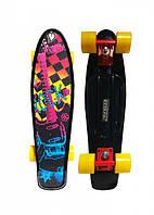 Скейт Ecoline Penny Board Glas-6 с гриптейпом, фото 1