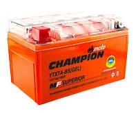 Мото аккумулятор Champion 7AH YTX7A-BS (1) GEL, фото 1