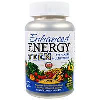 Витамины для подростков  Enhanced Energy Teen 60 таб KAL USA
