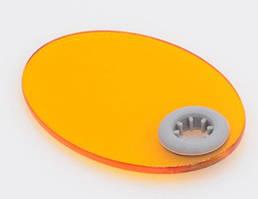 Стекло защитное для фотополимерной лампы, диаметр световода 8 мм