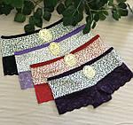 Женские трусы-шорты, кружевные трусы-шортики, фото 2