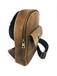 Мужская стильная сумка VS006 Crazy horse brown, фото 5