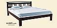 Кровать деревянная Л-227 1,8, фото 2