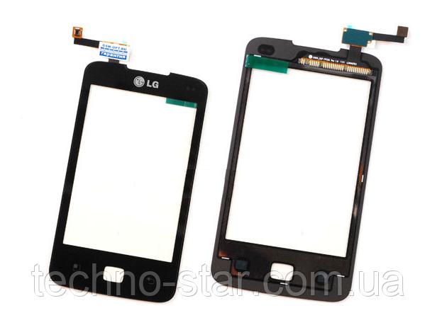 Оригинальный тачскрин / сенсор (сенсорное стекло) для LG Optimus Hub E510 (черный цвет)