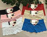 Трусы женские, шорты кружево полубатал, фото 2