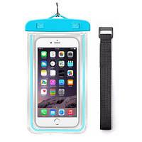 Чехол для телефона водонепроницаемый с ремнем на руку 10,5x18см C25230, фото 1