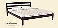Кровать деревянная Л-230 1,8, фото 2