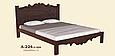 Кровать деревянная  Л-224 1,6, фото 3