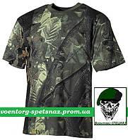 Футболка камуфляжная охотничья в расцветке hunter green