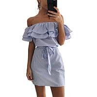 Платье   летнее с  двойным воланом ! , фото 1