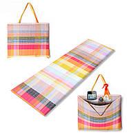 Коврик сумка трансформер Holiday на молнии (палитра) (сумка килимок на блискавці)