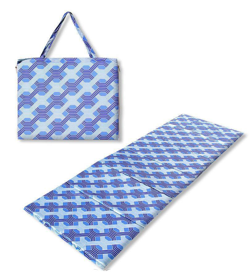 Коврик сумка Holiday на молнии (синий узор)