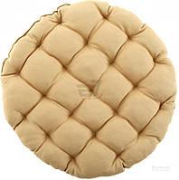 Подушка Bella Vita круглая стеганая бежевая Duk 37?37?5 см