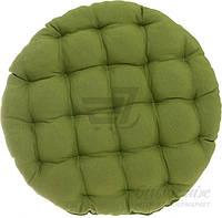 Подушка Bella Vita круглая стеганая зеленая Duk 37?37?5 см