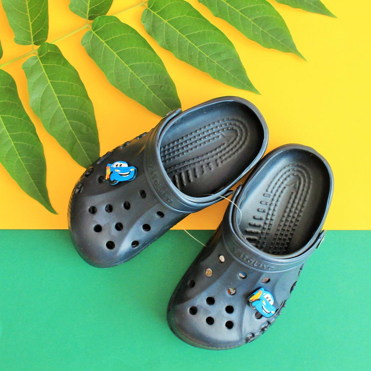 Детские темно-синие кроксы оптом детская летняя обувь тм Виталия Crocs ростовка 22-35
