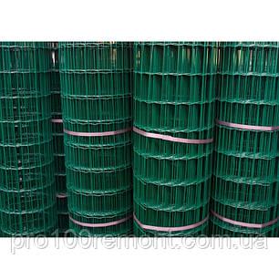 Сетка сварная ЗАГРАДА КЛАССИК рулон 1,5х10м ячейка 50х100мм, фото 2