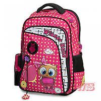 Рюкзак школьный ортопедический для девочек Сова розовый 194-1б Winner