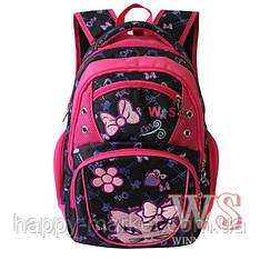 Рюкзак школьный для девочек подросток Кошка 153 Winner