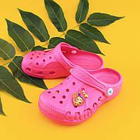 Кроксы оптом Украина малиновые детские тм Vitaliya для девочки ростовка 22-33