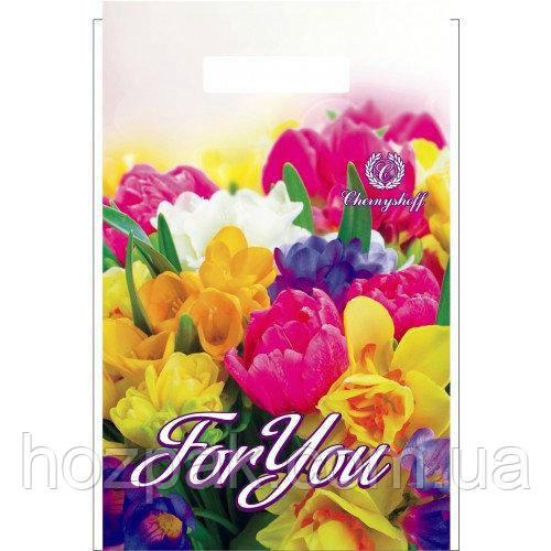 """Пакети поліетиленові типу банан """"квіти Тюльпан For You"""" 20х30 100шт."""
