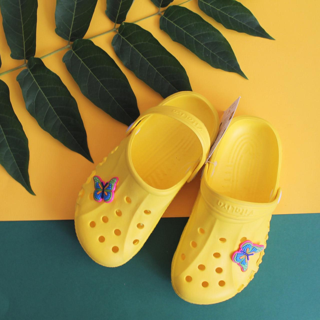 Детские желтые кроксы оптом для детей Crocs тм Vitaliya Украина р. 22-33