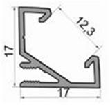 схема врезного углового профиля светодиодной ленты
