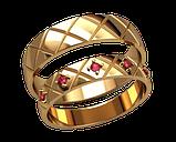Кольца парные,обручальные Ромбы 20011, фото 2