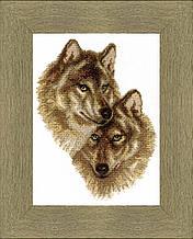 """Набор для частичной вышивки крестиком ВТ-058 """"Волк и волчица"""", Crystal Art"""