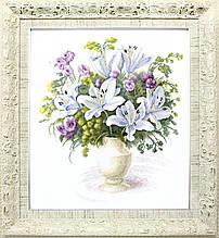 """Набор для частичной вышивки крестиком ВТ-141 """"Букет с белыми лилиями"""", Crystal Art"""