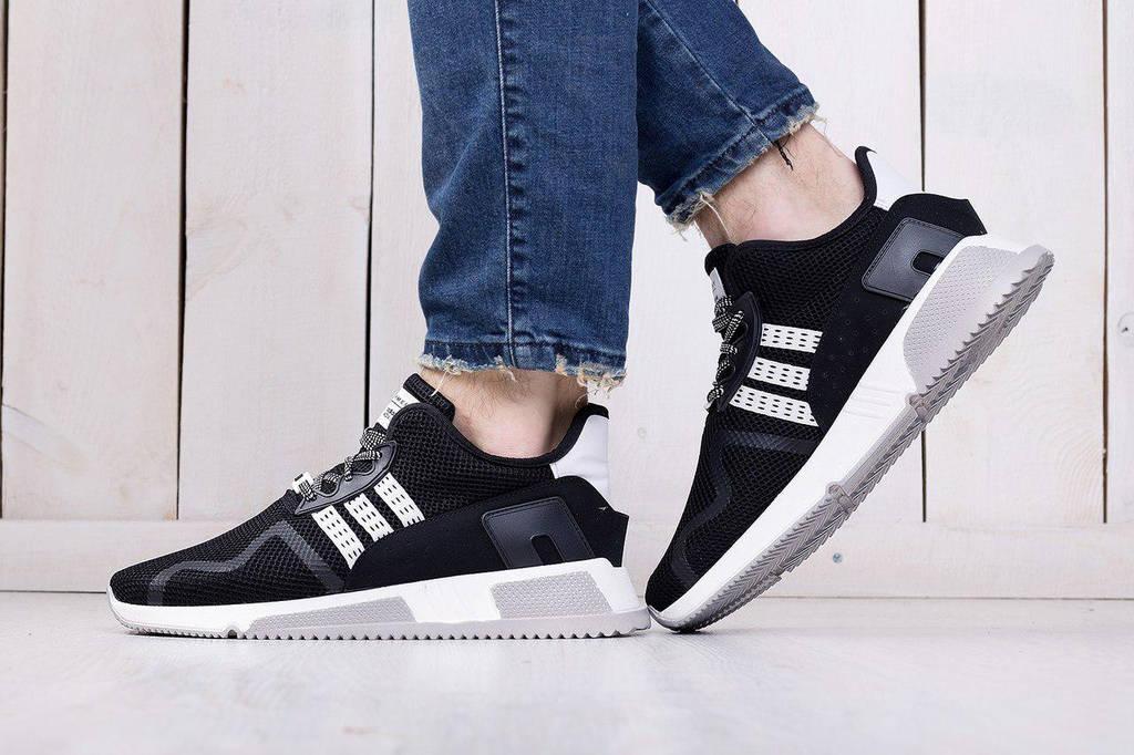 Adidas EQT Cushion Black White Strips (реплика)