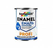 Эмаль акриловая PROFI Kompozit белая шелковисто-матовая, 0.8 л