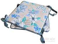 Подушка на стул Симфони цветы 40x40 см Прованс