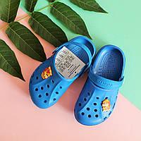 Синие кроксы для мальчика с супергероем тм Vitaliya р.20-21,22-23,24-25,26-27,32-33,34-35