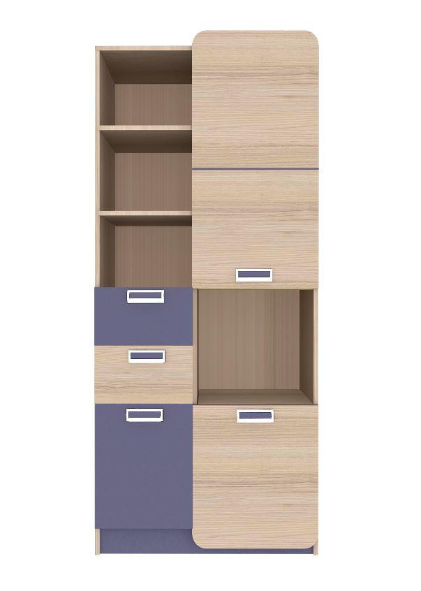Шкаф Jasmine G цвет Коимбра / фиолетово-синий