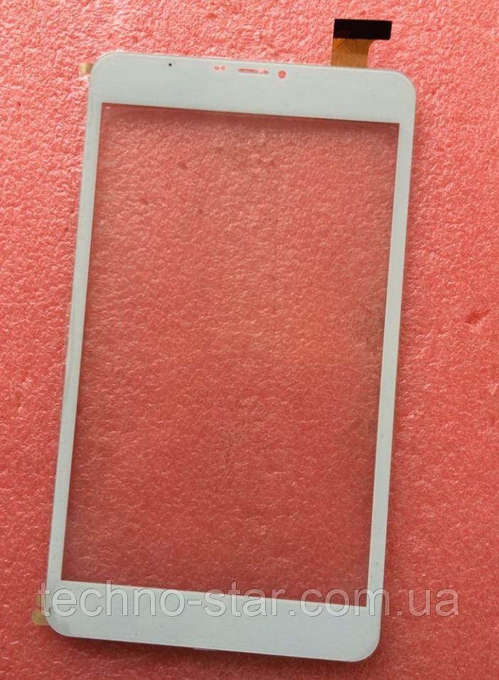 Оригинальный тачскрин /сенсор (сенсорное стекло) Assistant AP-875 3G (белый с вырезом под динамик самоклейка)