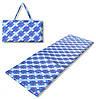 Коврик сумка Relax на липучке (синий узор)