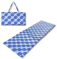Коврик сумка трансформер Relax на липучке (синий узор) (сумка килимок на липучці)