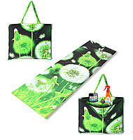 Коврик сумка трансформер Holiday на молнии (одуванчик) (сумка килимок на блискавці)
