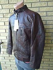 Куртка мужская из экокожи высокого качества FUDIRO, фото 2