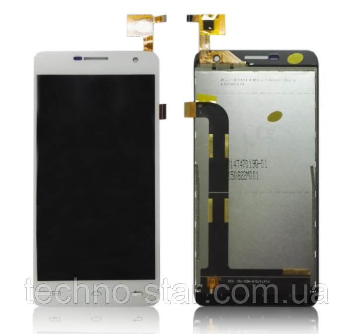 Оригинальный дисплей (модуль) + тачскрин (сенсор) для Doogee Iron Bone DG750 (белый цвет)