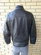 Куртка мужская из экокожи высокого качества FUDIRO, фото 3