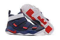 Кроссовки мужские Nike Lebron 10 Soldier Navy/White/Red, фото 1