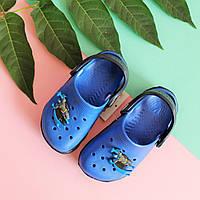 Синие кроксы для мальчика с героем детская пляжная обувь тм Vitaliya р.20-21