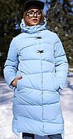 Пальто  с высоким воротником-стойкой, фото 1