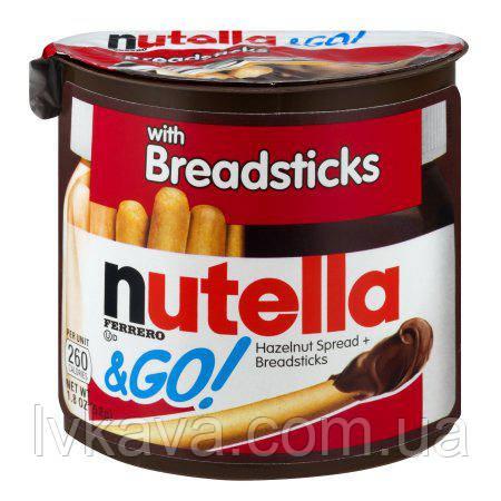 Шоколадно-ореховый крем Nutella &  GO Ferrero , 52 гр, фото 2