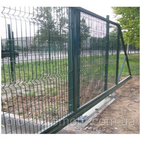 Ворота откатные высота 2.40м ширина 6.0м