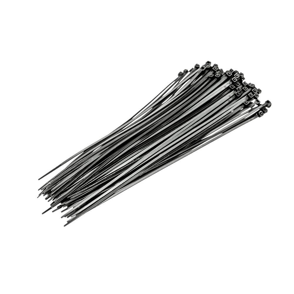 Хомут затискний автомобільний чорний 75x2,4 мм, 100 шт  FASTER TOOLS
