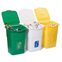 Набор мусорных баков для сортировки мусора ECO 3