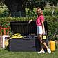 Сундук пластиковый Santorini Plus 550 л антрацит с подушкой Toomax, фото 3