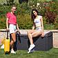 Сундук пластиковый Santorini Plus 550 л антрацит с подушкой Toomax, фото 4